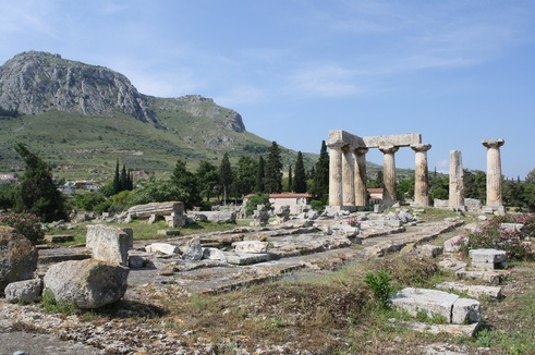 The ancient city of Corinth
