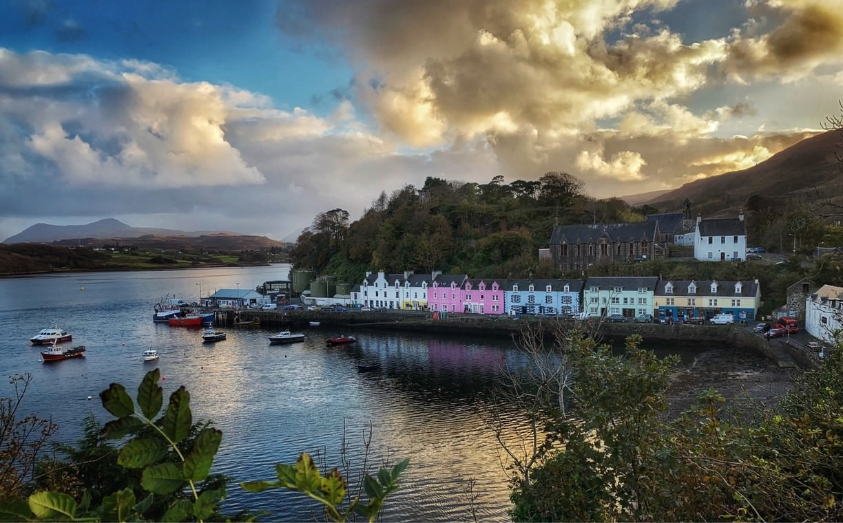 The village of Portree
